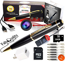 Professional Spy Pen 1080p Hidden Camera BUNDLE with 16GB SD Card HD Voice Video