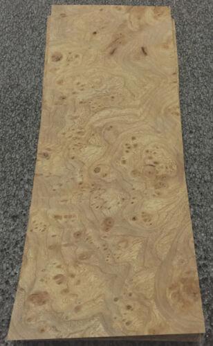 "Carpathian Elm Burl wood veneer 4/"" x 9/"" raw with no backing 1//42/"" thickness /""AA/"""