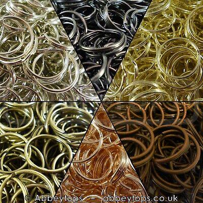 Abbeytops Split Rings 10mm 15mm 20mm 25mm 30mm Keyring Hook Loop Leather Craft Copper, 25mm
