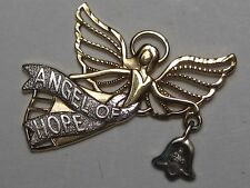 Michael Anthony 10K Yellow White Gold Diamond Accent Angel of Hope Charm. 23mm