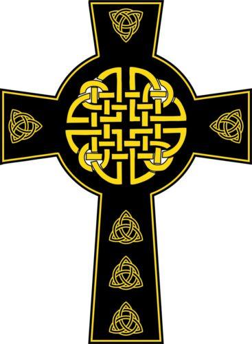 Occult Full Color CAD Cut Car Wicca Vinyl Sticker Decal Celtic Knot Cross