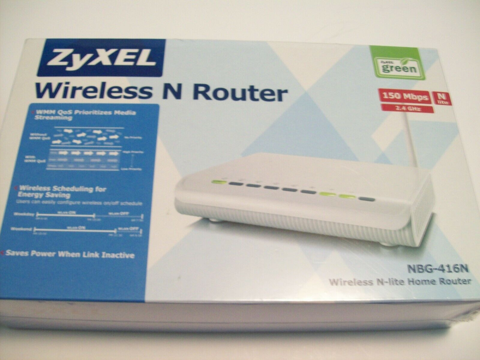 ZyXEL NBG416N 150 Mbps 4-Port 10/100 Wireless N Router