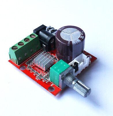 Neu 12V 2*10W Dual Channel D Class Hi-Fi PAM8610 Audio Stereo Verstärker DE