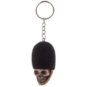 *NEW* Gothic Skull /& Cross Bones Tag Keyring Key Chain for Wallet or Bag