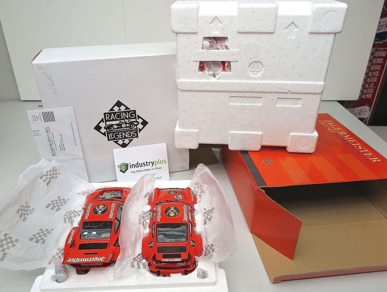 Exoto Racing Legends Jagermeister Gift Set Set Set Porsche 934 935 Limited Edition 1 18 050a20