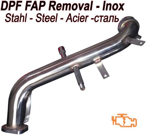 Downpipe DPF FAP suppression T6 LANCIA DELTA 1.6 105 120 hp
