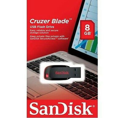 SanDisk 8GB 16GB 32GB 64GB 128GB Cruzer Blade USB 2.0 Pen Drive lot CZ50 SDCZ50