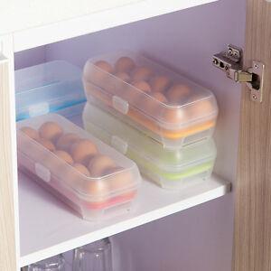 Plastic Egg Food Storage Containers Fresh Refrigerator Case Crisper