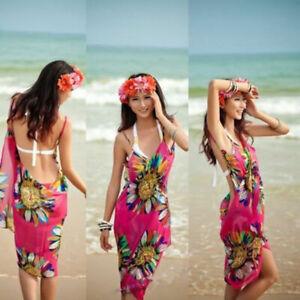 67385b1e5283c US Ladies Sexy Bikini Cover Up Beach Swimwear Dress Scarf Pareo ...