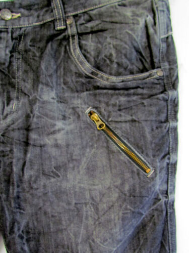 normal 52,58,68 NUOVO Uomo Denim Pantaloni blackused Nero Jeans Kurzgr 26,29,34