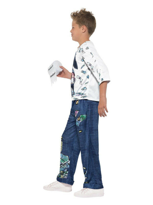 David Walliams Deluxe Billionaire Boy Costume, Blu