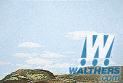 Walthers SceneMaster Instant Horizons Country to Eastern Foothills Background Scene Toy