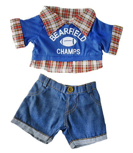 """Bearfield Champs Football Teddy Bear Clothes Fits Most 14/""""-18/"""" Build-a-bear and"""
