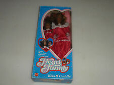 NEW IN BOX BARBIE DOLL THE HEART FAMILY KISS & CUDDLE 3768 MATTEL 1986 AFRICAN >