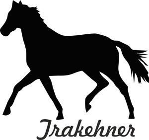 2x-autocollant-de-voiture-TRAKEHNER-cheval-Sticker-11cm-decoupe-Couleur-sel