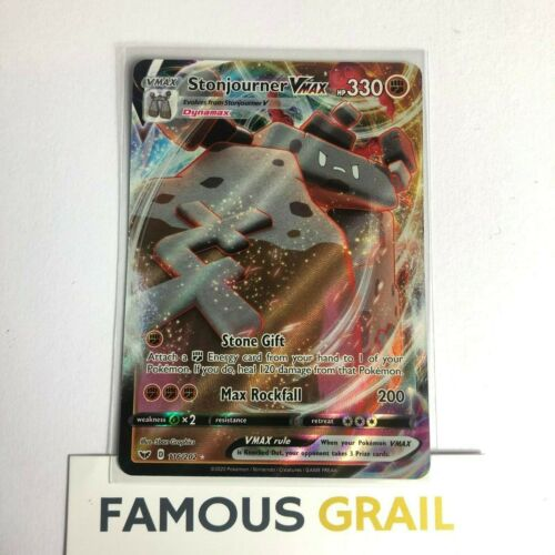 Stonjourner VMAX 116//202 Full Art Holo Rare Card Pokemon Sword /& Shield MINT