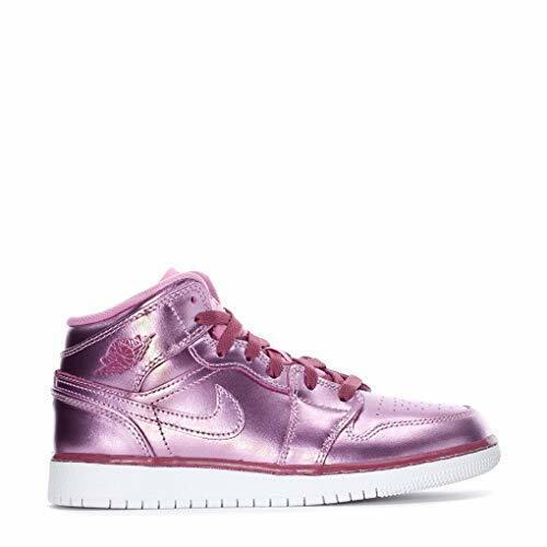 Air Jordan 1 Mid SE Pink Rise White Noble Red Av5174 640 Size 6.5y ...