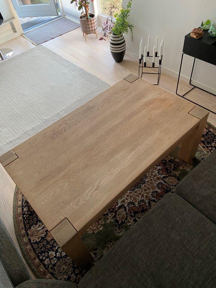 Sofabord, egetræ, b: 75 l: 125 h: 54