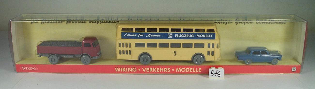 WIKING 1 87 PMS Sortie Nº 5 Transports Modèles Fiat 1800 Mo LP berlinbus neuf dans sa boîte  876