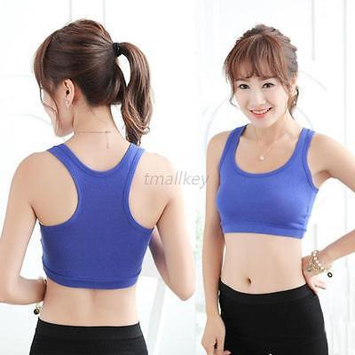 Women Lady Sports Bra Vest Cotton Seamless Stretch Yoga Fitness Sports Tank Tops