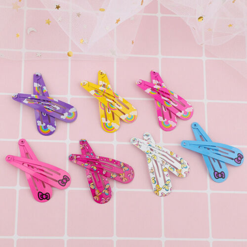 18-20pcs 5cm Snap Hair Clips Color Metal Barrettes Baby Children Pins Hairpins