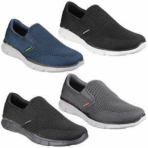 bfb76cdb8cfa Skechers Equalizer Double Play Mens Memory Foam Sports Go Walk Shoes ...