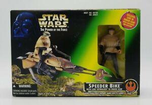 Star-Wars-Power-Of-The-Force-Speeder-Bike-with-Luke-Skywalker-in-Endor-Gear-NIB