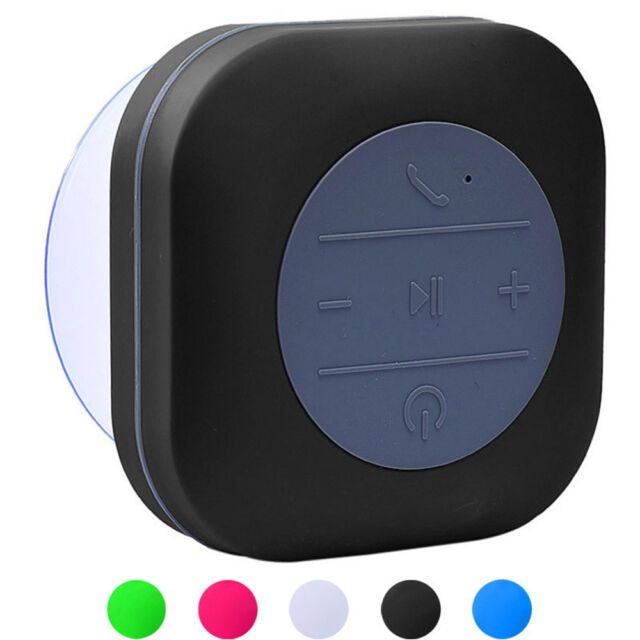 Waterproof Speakers Wireless Bluetooth Handsfree Mic Suction Mini Speaker Shower