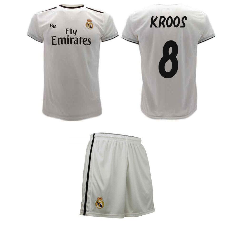 Completo Kroos Ufficiale Real Madrid 2019 Maglia e Pantaloncini Toni 8