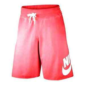 932d93411631 NIKE ALUMNI LIGHT WEIGHT SOLSTICE SHORTS 728691 696 CRIMSON-WHITE ...