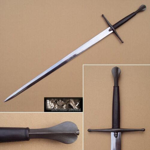 Hand Forged EN45 Blade With Full Tang European Medieval Two-Handed Longsword
