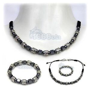 New Style Mode BRACELET+Collier Exclusifs pour Homme Perles en métal+HEMATITE