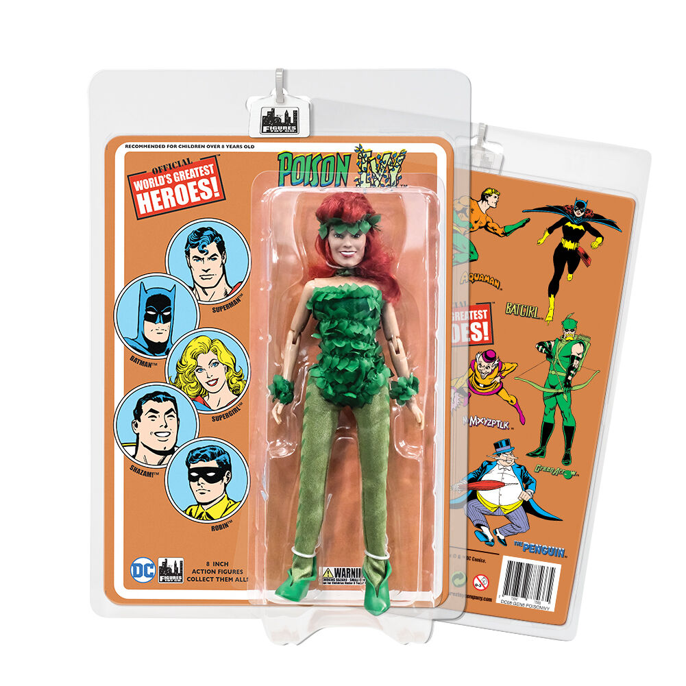 DC Comics Poison Ivy 8 inch Action Figure on Retro Card
