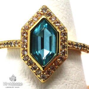 Gorgeous-Blue-Aquamarine-Ring-Women-Engagement-Jewelry-14K-Yellow-Gold-Plated