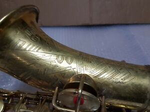 Copieux 1930 Conn New Wonder Virtuoso Deluxe Alt/alto Sax/saxophone-made In Usa-afficher Le Titre D'origine