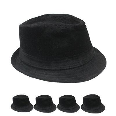 WINTER VELVET Fedora Hat Wedding Dress Formal WOMEN MEN BLACK CAP