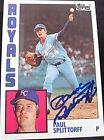 1984 Topps Paul Splittorff #52 Baseball Card