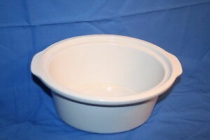 Rival Crock Pot Stoneware Replacement Liner Model 3735 White
