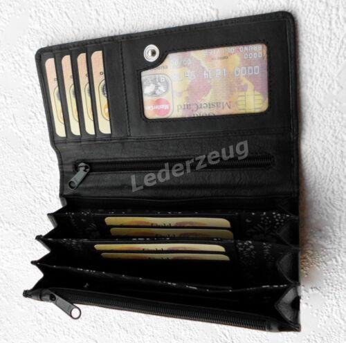 Geldbörse Portemonnaie Leder Geldbeutel Damenbörse Branco NEU