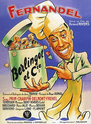 Berlingot et Companie Fernandel Charpin movie poster print