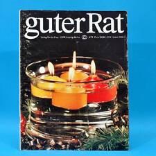 Guter Rat 4-1978 Verlag für die Frau DDR Tee Klubraum Handstaubsauger Stricken B