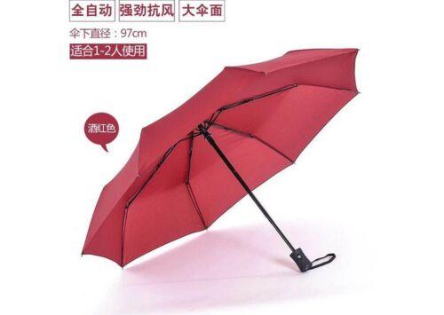 Parapluie Automatique Coupe-vent Hommes noir compact largeur Auto Open Fermer Léger