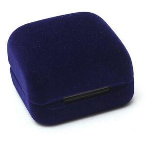 1-Ecrin-Boite-bleu-Presentoir-Cadeau-Bagues-Boucles-D-039-oreilles-Bijoux-Velou-P7A3