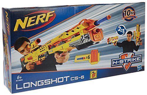 Helt ny NERF N -Strike LÅNSvarm CS -6 Dkonst Blaster RARE