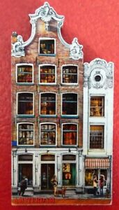 Collectible-3D-Resin-4-039-039-Fridge-Magnet-Holland-Amsterdam-Building