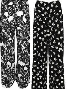 Nuevas Damas Animal Print Palazzo Pantalones Para Mujer De Verano Elegante Ancho Acampanada Pantalon Ebay