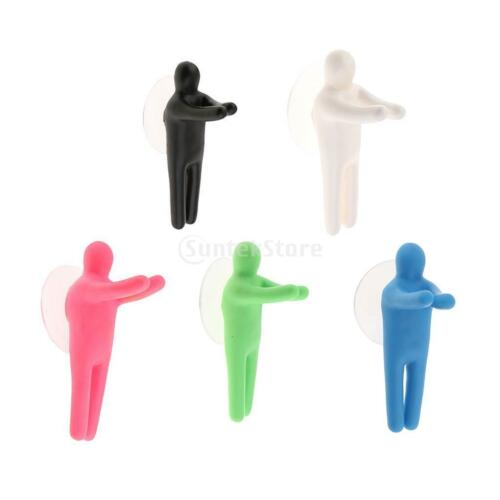 Colorful Toothbrush Holder Hanger Suction Cup Hooks Bathroom Accessories