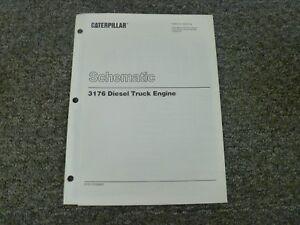 Caterpillar Cat 3176 Diesel Truck Engine Electrical Schematic Diagram Manual  | eBayeBay