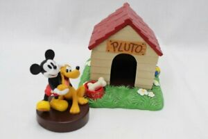 Disney Mickey Mouse Pluto Dog House Figurine Set Roof Opens Ebay