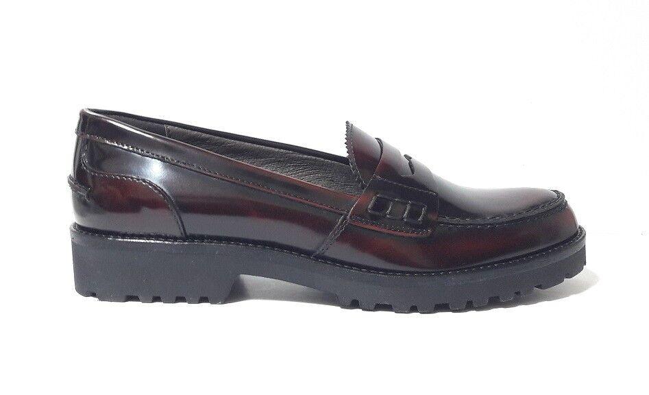 MOCASSINI Schuhe Damens MALLY 5424S PELLE ABRASIVATA MOSTO FONDO ITALY GOMMA MADE ITALY FONDO 81f212